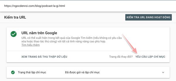 cách yêu cầu google lập chỉ mục bài viết nhanh