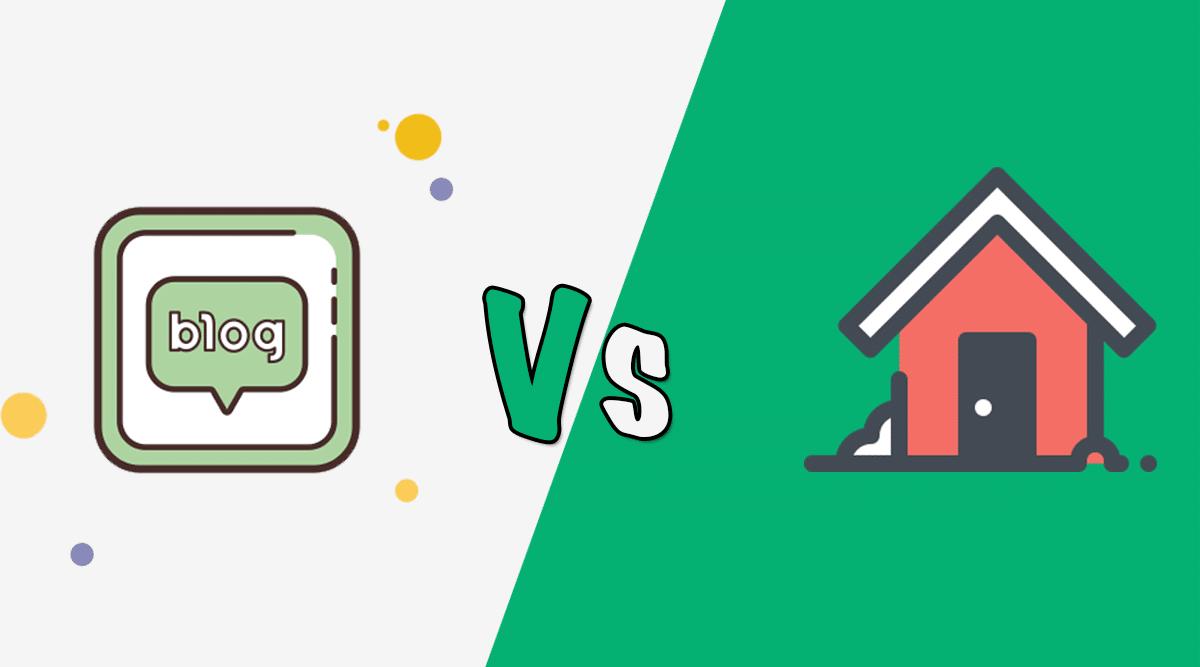 so sánh blog với căn nhà