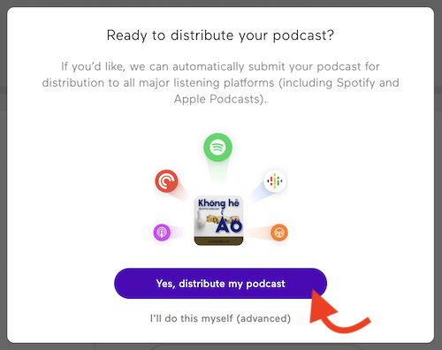 cách giử podcast lên spotify