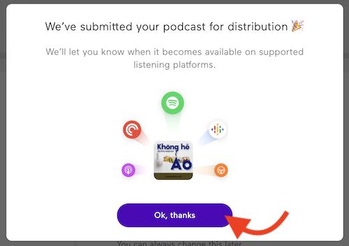 gửi podcast lên dịch vụ spotify