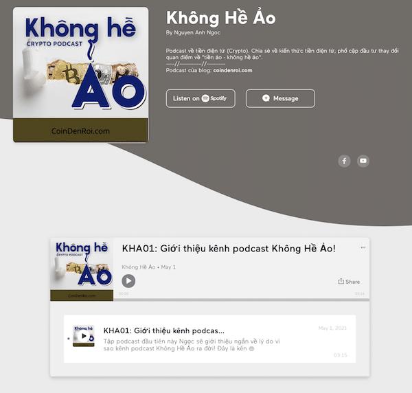 website podcast trên anchor
