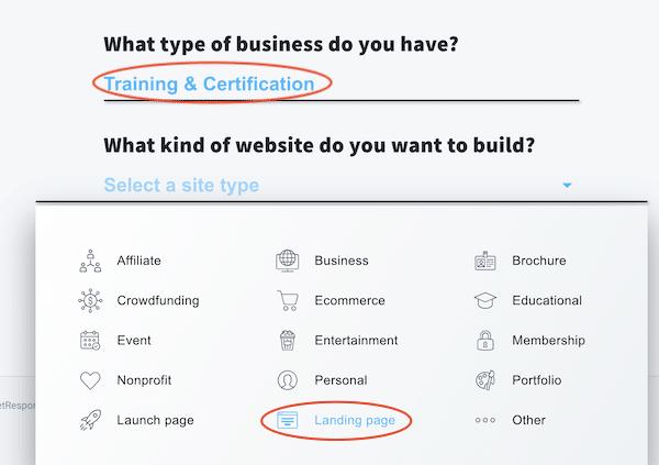 tạo website bán hàng bằng dịch vụ getresponse