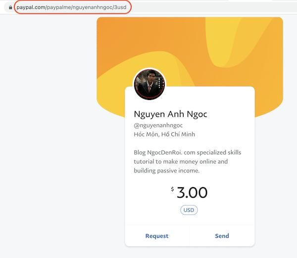 nhận donate qua paypal.me
